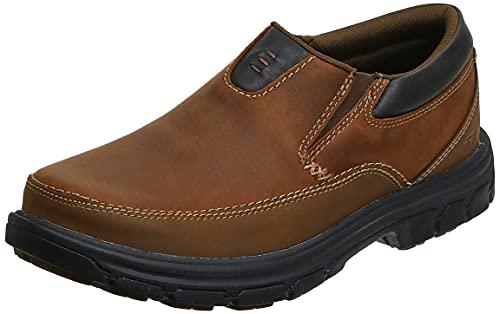 Skechers USA Men s Segment The Search Slip On Loafer, Dark Brown, 13 M US