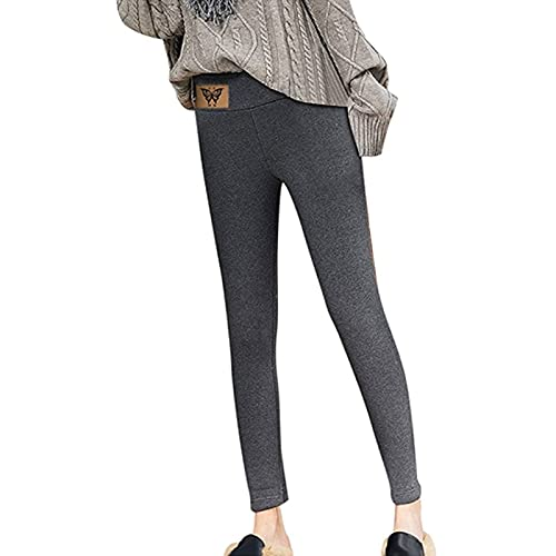 Yokbeer Leggings de Cachemira Súper Gruesos para Mujer, Leggings de Invierno de Sherpa de Poliéster, Pantalones Térmicos Finos Elásticos Cálidos (Color : B, Size : XL)