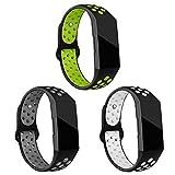 Onedream Bracelet pour Fitbit Charge 3 Femme Homme, Classique Réglable Bracelet de Silicone Sport...