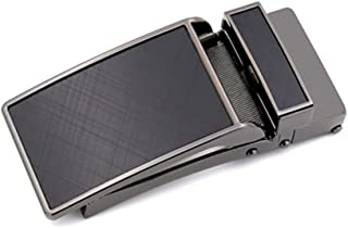 WZHZJ Width Genuine Leather Men's Belt Buckle Head Business Belt Buckle Accessories Automatic Buckle