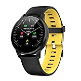 HFGH S16 Smart Watch 1.3inch OLED Color Screen Smart Watch Fashion Fitness Tracker Herzfrequenzsensor Smart Band,Gelb