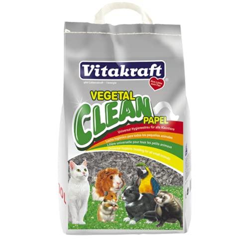 Vitakraft - Vegetal Clean Papel, Lecho Higiénico para Todo Tipo de Roedores - 25 L 🔥