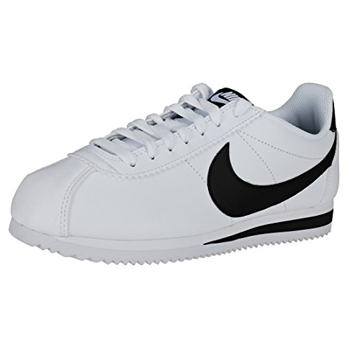 Nike Wmns Classic Cortez Leather, Scarpe Running Donna, Bianco (White/Black/White 101), 41 EU