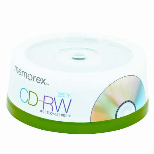 Memorex 4X 700 MB/80-Minute CD-RW Discs (25-Pack Spindle)