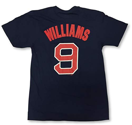 Boston Red Sox Adult Men's Ted Williams #9 Player Name and Number Crew Neck Jersey T-Shirt (Large)