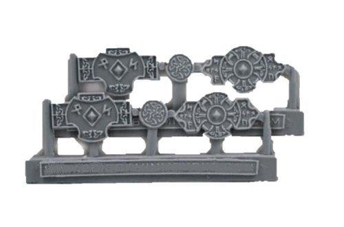 Scibor MM 28mm Miniature Conversion Parts Celtic Small Plates #1 (6)