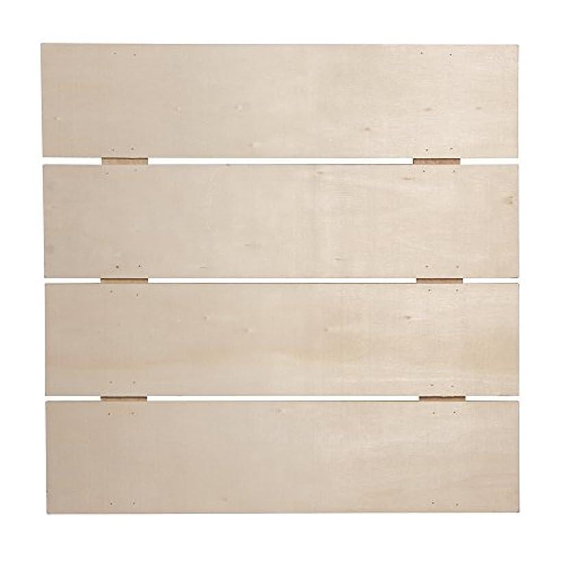 Rayher 2-Hook Wooden Bar-Frame, Wood, 28.6 x 28.6 x 0.7 cm
