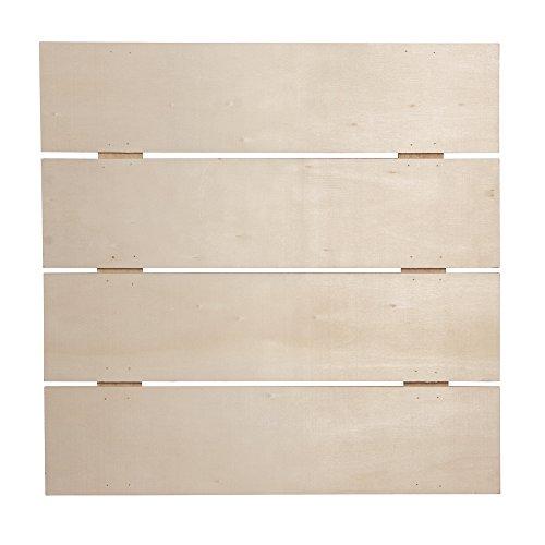 RAYHER 62615000 Holz-Lattenrahmen, FSC Mix Credit, 28,6 x 28,6 x 0,7 cm, Tiefe 1,1 cm mit 2 Haken