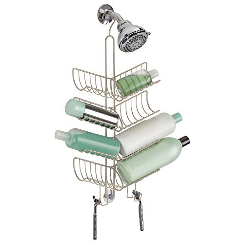 Best Price! iDesign Verona Metal Hanging Bathroom Shower Caddy, Extra Space for Shampoo, Conditioner...