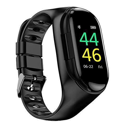 M1 smart Watch Armband Bluetooth kopfhörer, creamon m1 smart Watch Armband Bluetooth kopfhörer Zwei in einem Sport Armband Fitness Tracker pulsmesser schwarz