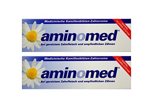 2x 75ml Aminomed bei gereiztem Zahnfleisch & empfindlichen Zähnen Kamillenblüten