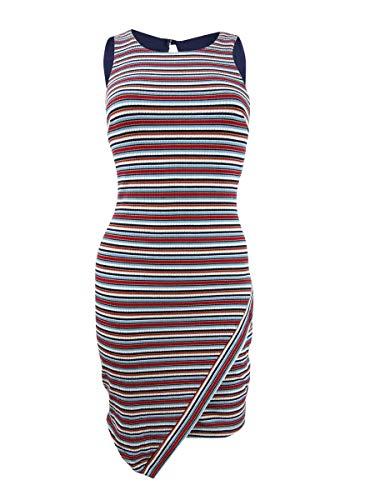 BCX Womens Juniors Sleeveless Striped Tank Dress Blue L