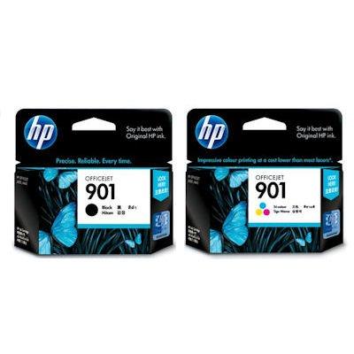 HP Hewlett Packard CC656AE y CC653AE color y cartucho de tinta negro