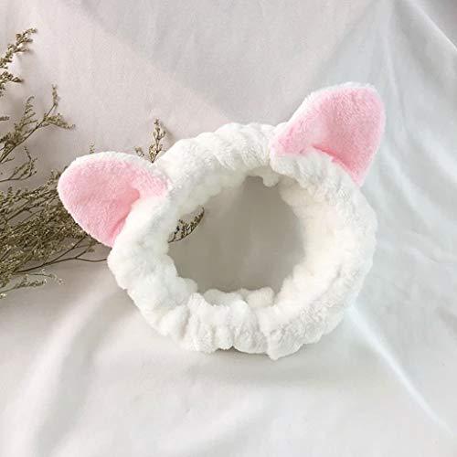 Exordinary Make-up-haarbanden met haarband voor dames, schattig kattenhaar, voor het wassen van oren, zacht en zacht, voor dames en meisjes, accessoire voor het gezicht