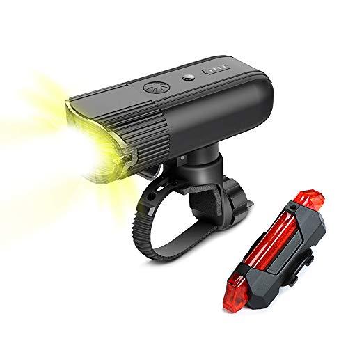 SYCHONG Wiederaufladbare Fahrradfrontleuchte USB Light Bike, 4000Mah / 1000 Lumen Scheinwerfer, IP65 LED Scheinwerfer Wasserdicht, Für Fahrradscheinwerfer