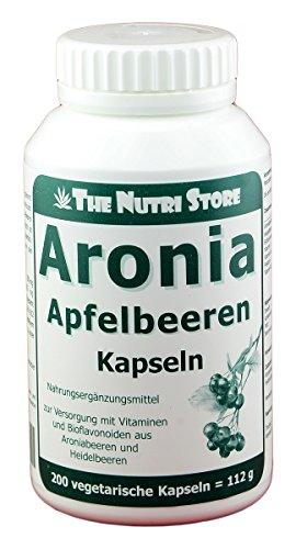 Aronia Apfelbeeren Kapseln 200 Stk. - zur Versorgung mit Vitaminen und Bioflavonoiden aus Aroniabeeren und Heidelbeeren