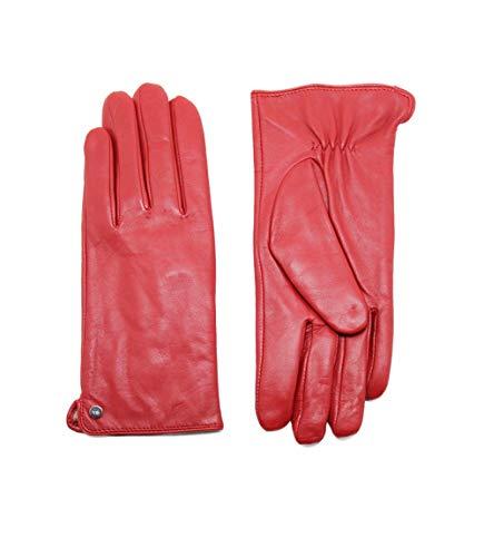 YISEVEN Damen Touchscreen Lederhandschuhe Wolle Gefüttert Lammfell Handschuhe Lederhandschuhe Autofahrer Damenhandschuhe Frauen Fingerhandschuhe Autohandschuhe Geschenk, Rot XL/8.0