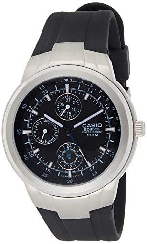 Casio Men's EF305-1AV Edifice reloj multifunción con malla de resina color negro