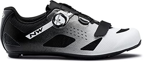 Northwave Storm Carbon Rennrad Fahrrad Schuhe schwarz/weiß 2021: Größe: 44
