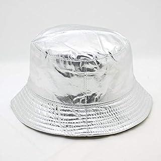 LONLLWK Sombrero para El Sol Hombres Mujeres Verano Deportes Sombrero Bucket Golden Astilla Visor Panamá Bucket Cap Pareja Moda Playa Pescador Sombreros Al Aire Libre