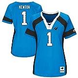 NFL Damen Shirt Carolina Panthers Cam Newton Draft 2017 Women's Girls Ladies Trikot (L)