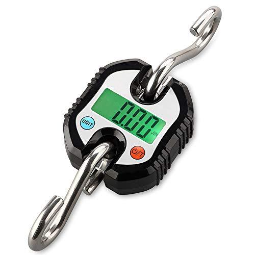 CCJW Balanza de Equipaje de casa portátil/Peso máximo de 150 kg. Balanza electrónica de pequeño Recorrido. (Color : Black)