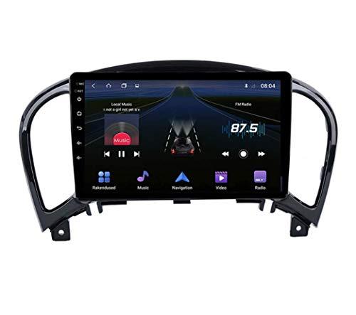 QBWZ Car Stereo Android 9.0 Radio para Nissan Juke YF15 2010-2014 Navegación GPS Pantalla táctil de 9 Pulgadas Unidad Principal Reproductor Multimedia MP5 Video con 4G WiFi DSP Mirror Link