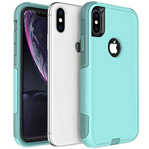 Legfes Pioneer Phone Protective Case, Pioneer iPhone Xs Case, Anti-Drop Shock Absorption iPhone X Case, Heavy Duty Dual Layer Protection Cover Case for iPhone X (iPhone Xs, Pioneer Aqua)