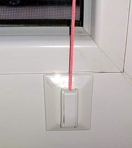 Aerolux Klebeplatten mit Spannschuh Universal für Plissee Faltstore verspannt, Weiss 4 Stück incl. Reinigungstuch, Montage von Plissee ohne Bohren auf dem Fensterrahmenohne
