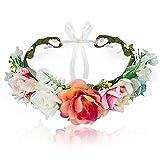 Wodasi Diadema de Flores, Cinta para el Cabello de Corona de Flores,...