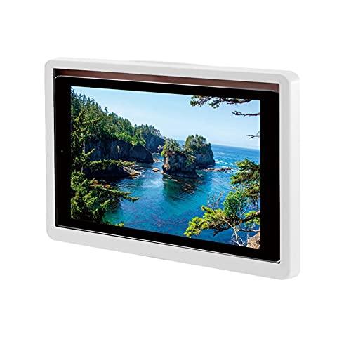 Amusingtao Funda para tableta montada en la pared, soporte autoadhesivo para estantes a prueba de agua, 360 rotación libre para tableta, apto para tablet con 14 pulgadas y por debajo