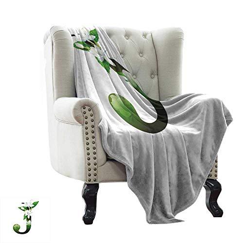 BelleAckerman - Manta de Piel sintética con diseño de Letra I, Estilo Retro, hipoalergénica, Color Verde
