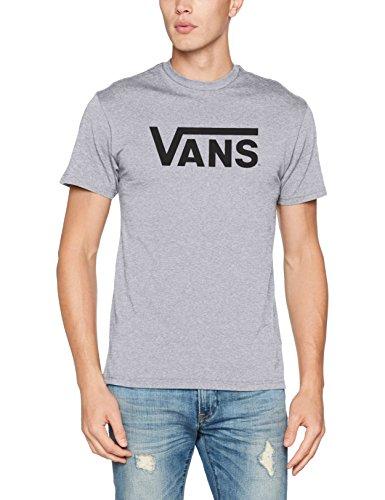 Vans Herren Classic T-Shirt, grau/schwarz, S