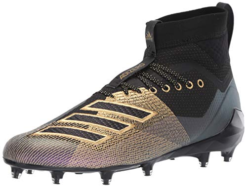 adidas Men's Adizero 8.0 SK Football Shoe Black/Gold Metallic/Grey 15 M US
