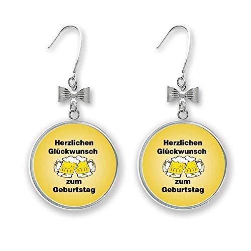 """Ohrhänger / Ohrhänger mit englischer Aufschrift """"German Toast Celebrating Birthday"""""""