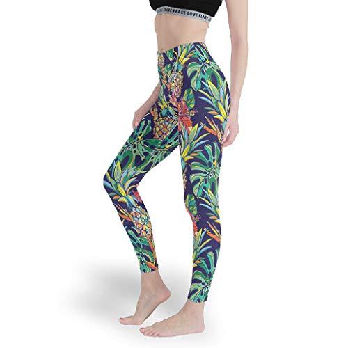 superyu Leggings coloridos de piña para cosplay, varios diseños, pantalones de yoga, pantalones de tobillo suaves, para gimnasio