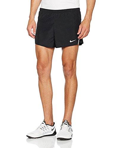 Nike Mens Tempo Split Shorts, Tm White/Tm Black, XL