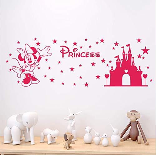 Château De Disney Minnie Stickers Muraux Chambre Bébé Chambre Décor À La Maison De Bande Dessinée Stickers Muraux Vinyle Papier Peint Bricolage Art Mural Affiches 60X43 Cm