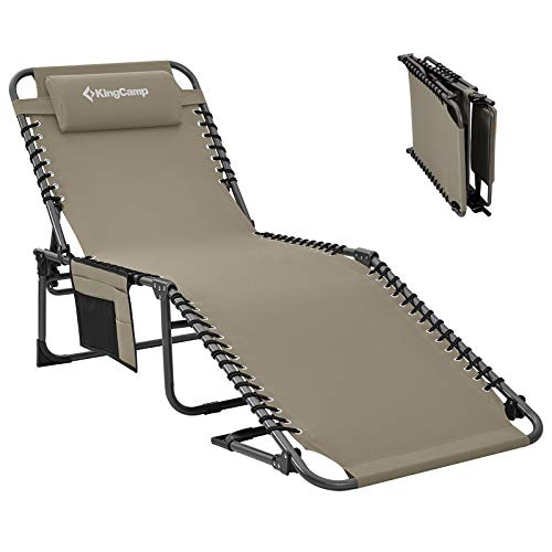 KingCamp 4-Fold Outdoor Folding Tanning Chair