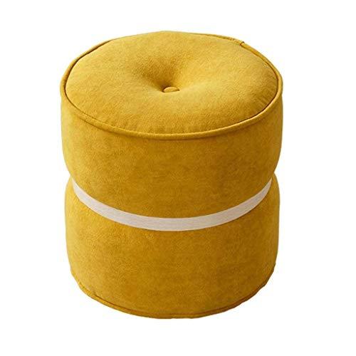 YEXIN Inicio estrado Macarons Pequeño Taburete Redondo Creativo de la Manera Zapatos de Banco Moderno Minimalista sofá de la Tela de Banco