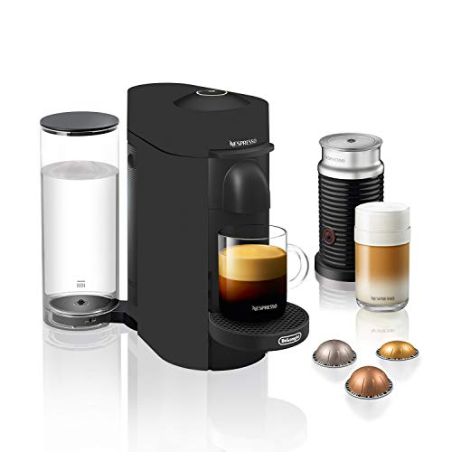 Nespresso ENV150BMBAECA De'Longhi VertuoPlus Coffee & Espresso Maker with Aeroccino, Matte Black