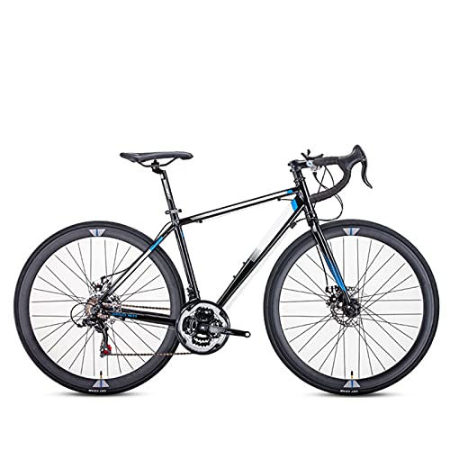 Bicicleta De Carretera, Marco Aleación Aluminio Ultraligero 21 Velocidades, Bicicleta Carreras para Hombres, Ruedas 700C, Freno Disco Doble con Cambio, Entusiastas del Ciclismo