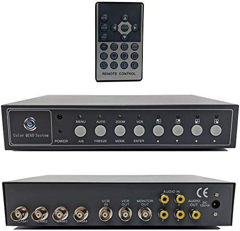 CCTV Camera Pros VM Q401A CCTV BNC Color Quad Processor Analog Security Camera Mux Video Screen product image