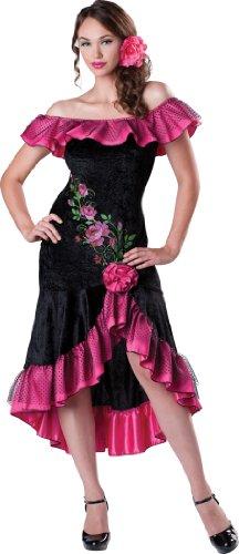 InCharacter Costumes Women's Flirty Flamenco Costume, Black/Pink, X-Large