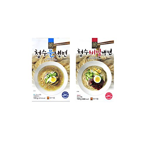 Choung Soo Naengmyeon, Korean Cold Noodle with Soup Base 720g (2 Pack)