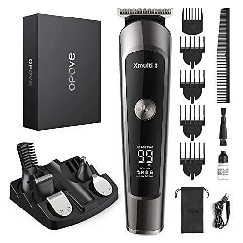 OPOVE Electric Beard Trimmer for Men, All-in-1 Multi-grooming Hair Trimmer Kit, Manscape, Body, Nose Trimmer, Cordless Clippers with Waterproof and 115min Run Time, Xmulti 3