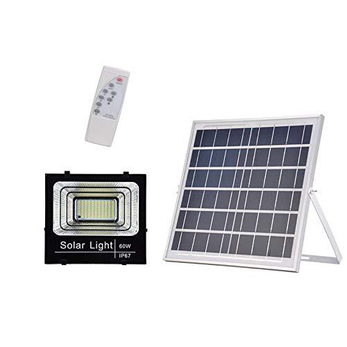 Popertr IP67 impermeable 108 LED 60W solar de la seguridad de las luces 15000mAh y 3 luces...