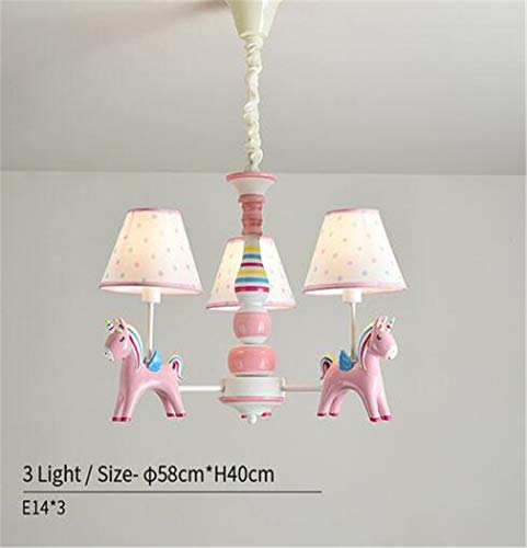 Lámpara Araña Lámpara De Salónpersonalidad Araña De Luces Para Dormitorio Lámparas De Araña De Color Rosa Lámparas Colgantes De Dibujos Animados Iluminación De Dormitorio De Niños