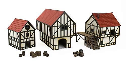 War World Gaming Medieval Town - Casa de Ciudad, Campo y Granero Medie