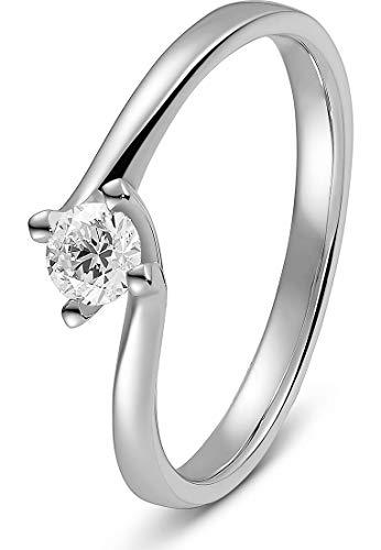 CHRIST Diamonds Damen-Damenring 1 Diamant 54 Weißgold 32012267